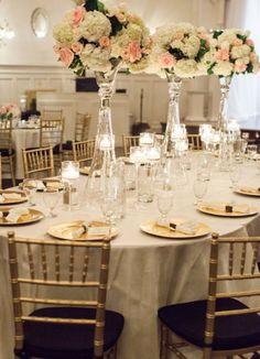 Photographer: Tara Francis Photography; Wedding reception centerpiece idea;