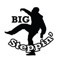 """Ghost Adventures Aaron Goodwin Big Steppin' Funny Decal Sticker. Our favorite Ghost Adventures Crew Member, Aaron Goodwin doing his Infamous """"Big Steppin'"""" Move! 5 inches tall and FREE SHIPPING!! $5.00!!"""
