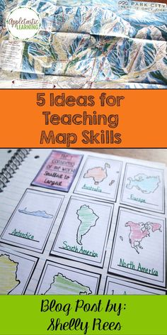 Map Skills are an important concept to teach. Here are 5 easy ways to get your students interested in maps and to make the job easier for teachers! Super ideas!