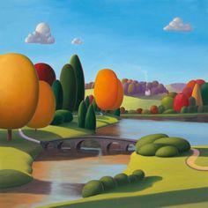 Paul Corfield - Autumn Splendour, Artmarket Contemporary Art Gallery