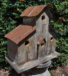 Rustic Ranch Birdhouse Cabin birdhouse