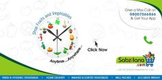 Visit us today www.Sabzilana.com  We Are Delivering Our Fresh Veggies From 9am To 7pm :-)