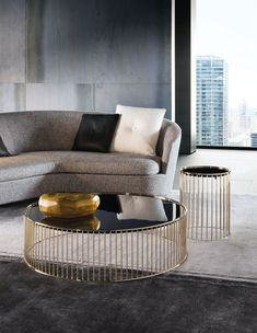 Gold Coffee Tables With Trendy And Sophisticated Designs - modern Furniture - Design Rattan Furniture Coffee Table Design, Coffee Table Styling, Cool Coffee Tables, Decorating Coffee Tables, Modern Coffee Tables, Luxury Furniture, Modern Furniture, Furniture Design, Antique Furniture