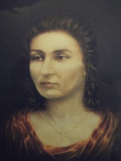 Portrait of woman - oil painting