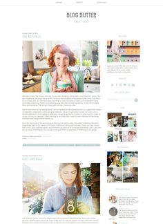 Responsive Blogger Template Premade Blogger by carrielovesdesign