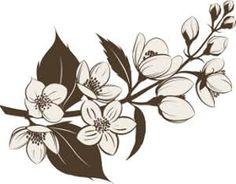 jasmine flower tattoo ile ilgili görsel sonucu