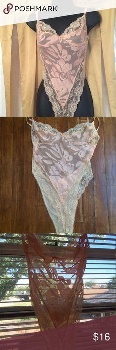 Spotted while shopping on Poshmark: Vintage lingerie camisole bra romper sheer lacy-M! #poshmark #fashion #shopping #style #Vintage Mara Intimates #Other