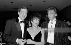 Marvin Hamlisch with Liza Minnelli and Barry Manilow in 1987