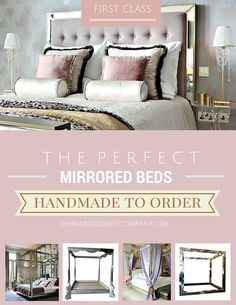 themirroredbedcompany.com is the world's leading luxury mirrored bed maker - just for you! All beds are handmade to order to your exact design. Multiple fabric options in silk, velvet and leather, mirror finishes and many other style options to choose from to create your most perfect sacred space!