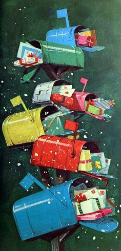 Vintage Norcross Christmas card