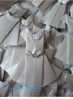 Vestidinho em origami para diversas aplicações!!