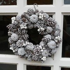 A White and Silver Christmas Wreath