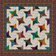 "Picket Fence - 5"" Charm Quilt Pattern"