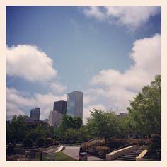 Blue skies finally appeared in Atlanta at Blue Skies, Seattle Skyline, Atlanta, Travel, Viajes, Trips, Tourism, Traveling