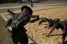Drill instructors marine corps camp boot