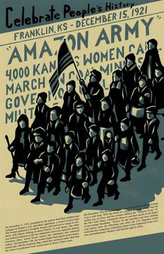 Amazon Army By Dave Loewenstein (December 2014) Offset Print & People's History Poster