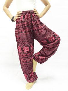 Haremshosen - Pluderhose, Hippie Hosen, Boho Hose, rote Ton - ein Designerstück von smoothlights bei DaWanda