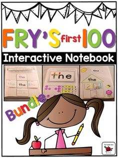 Sight Word Interactive Notebook Fry's First 100 Bundle: This Sight Words Bundle has 350+ pages! It has been designed for students learning high frequency words. Great for those learning Fry's word lists! This bundle includes 100 words. Great for reference and practice!