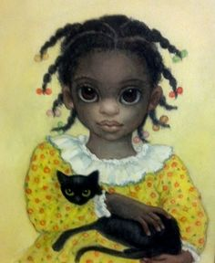 "Keane Big Eyes Paintings 1961 | Sweet Pea"" ~ Margaret Keane.   Her work during terrible times for her was marked by subjects in shadows and crying.  When she met Christ, her subjects changed.  These times in her life show animals and children happy.  Point taken!"