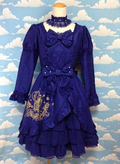 Secret Treasure Chest OP (+ Choker) in Blue from Angelic Pretty - Lolita Desu