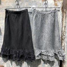 Linen Petticoat with Rag Frill Hem