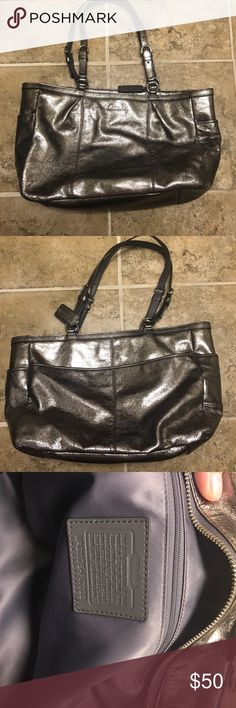 Metallic Coach Shoulder Bag Metallic Coach Shoulder Bag. Very good used condition! Coach Bags Shoulder Bags