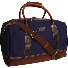 So Gorgeous- Cole Haan Hermitage Duffel Navy Canvas/Woodbury