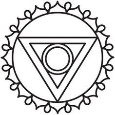 Chakra Symbols - Throat design (UTH5057) from UrbanThreads.com
