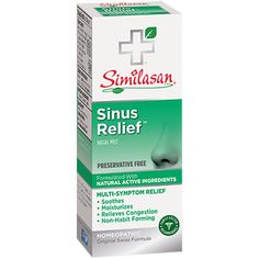 For soothing, comforting sinus congestion help, use Similasan's Preservative Free Sinus Relief nasal mist with natural active ingredients. Holistic Care, Holistic Healing, Relieve Sinus Congestion, Eye Pain, Sinus Relief, Sinus Pressure, Nose Bleeds, 20 Ml, Nasal Passages