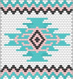 Wayuu Mochilla Bag Chart - Knitting and Crochet Tapestry Crochet Patterns, Crochet Motifs, Crochet Chart, Loom Patterns, Beading Patterns, Cross Stitch Patterns, Beaded Crochet, Tapete Floral, Motifs Aztèques