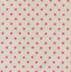 Glitter ster is een mooie Japanse stof gemaakt van katoen en linnen en komt uit de serie van Sevenberry. Glitter ster heeft een print van roze glinsterende sterren op linnen kleurige achtergrond. De s