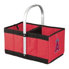 Picnic Time Los Angeles Angels of Anaheim Urban Folding Picnic Basket, Red