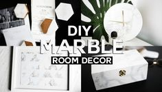I hope you enjoy this DIY Marble Room Decor featuring Marble Magnets, Marble Clock, Marble Wall Art and a Marble Box! • Watch Nastaza's Video!! : https://you...