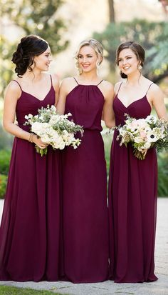 Mix and Match Burgundy Bridesmaid Dresses by Sorella Vita