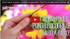 Clases de tejido crochet gratis online: punto cocodrilo