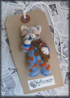 The Cat's Pyjamas Sleepy Cat Needle Felted Brooch by Mythillogical, £18.50  Cos she is so clever and I love her stuff.