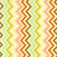 Tissu Mini chic chevron Spa x 10cm