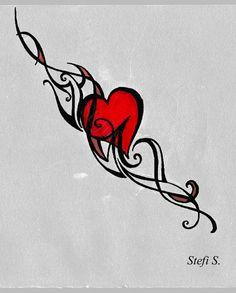 DeviantArt: More Like Tiger Tattoo Flash-Art Commission by megantoy Design Tattoo, Heart Tattoo Designs, Tattoo Designs For Women, Tattoos For Women Small, Heart Designs, Red Heart Tattoos, Small Heart Tattoos, Star Tattoos, Tattoos Skull