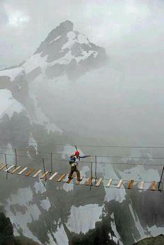 Sky Walking at Mt. Nimbus, Canada