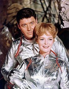 Guy Williams (1924-1989) and June Lockhart in Lost in Space 1965 - 1968