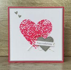 Bij Margriet Creatief; stampin Up, sheltering tree, mother's day, Moederdag, heart, hart, SU, melon mambo