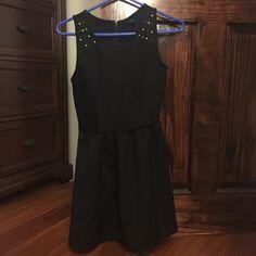 Black Dress with Studs Black Dress with Studs, very comfortable Forever 21 Dresses