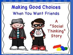 This is a Social Story about a young boy who is lonely and wants friends. In the beginning, the young boy confuses coolness with having toys and bad choices. He soon learns that being kind and making good choices make others feel comfortable and want to be his friend.Product includes a personal list of rules for students to note for their own friendship rules, drawing prompts, and thought provoking and social thinking questions to review with students See product for credits.