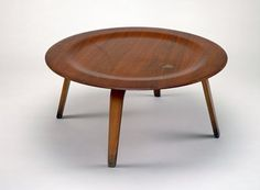 """""""CTW"""" table (Coffee Table Wood), c. 1955 Charles Eames; Designer: Ray Eames; Manufacturer: Herman Miller, Inc., Zeeland, Michigan, Est. 1923"""