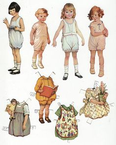 Don't you just love paper dolls! When I was younger I loved playing with these over barbies!