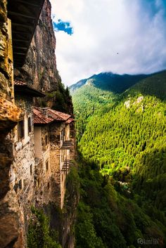 sümela by Mahmut FIRAT on 500px........ #Sumela Monastery from the 4th century AD, built on a precipice in Macka district of Trabzon with precious frescoes