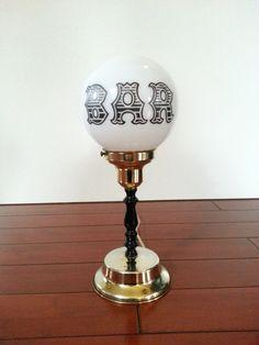 Vintage Bar Globe Lamp Charlie Chaplin Drunkard On