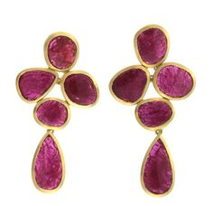 Ruby symbolizes love + health, royalty + power, and dignity + beauty. It is the July birthstone, and the focal point of these exquisite custom earrings for a very dignified Beauty indeed. Ruby Earrings, Stone Earrings, Stone Jewelry, Custom Earrings, July Birthstone, Birthstones, Storyboard, Instagram Posts, Royalty