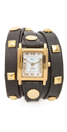 La Mer Collections Pyramid Stud Wrap Watch | SHOPBOP