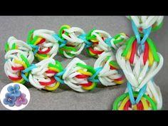 Como Hacer Pulseras de Gomitas Mini Arco Iris MUY FACIL Tutorial Pulseras de Ligas Pintura Facil - YouTube